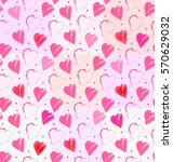 heart on squares in white  pink ... | Shutterstock .eps vector #570629032