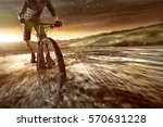mountainbiker goes offroad | Shutterstock . vector #570631228