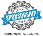 sponsorship. stamp. sticker....   Shutterstock .eps vector #570637726