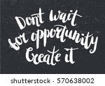 vector inspirational quote on... | Shutterstock .eps vector #570638002
