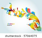 abstract background vector | Shutterstock .eps vector #57064075