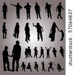 vector silhouettes | Shutterstock .eps vector #57064837