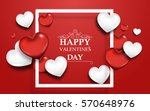 valentine's day abstract... | Shutterstock .eps vector #570648976