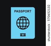 Stock vector passport icon 570652132