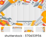 stock vector set horizontal...   Shutterstock .eps vector #570653956