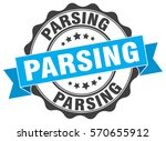 parsing. stamp. sticker. seal.... | Shutterstock .eps vector #570655912