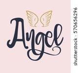 slogan angel vector print.for t ...