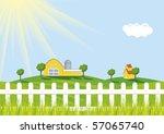 sunrise at farm | Shutterstock .eps vector #57065740