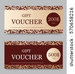 Gift Voucher Template On Two...
