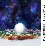 crystal ball  healing crystals... | Shutterstock . vector #570659428