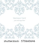 vintage baroque invitation card ... | Shutterstock .eps vector #570660646