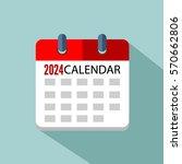 calendar 2024 vector eps 10   Shutterstock .eps vector #570662806