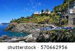 the colorful coast in cinque...   Shutterstock . vector #570662956