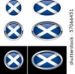 scottish flag buttons | Shutterstock .eps vector #57066451
