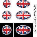british flag buttons | Shutterstock .eps vector #57066469