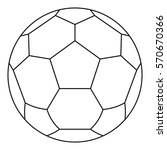 White Soccer Ball Icon. Line...