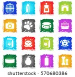 goods for pets vector web icons ... | Shutterstock .eps vector #570680386