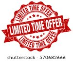 limited time offer. stamp.... | Shutterstock .eps vector #570682666