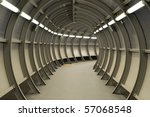 tunnel made of metal... | Shutterstock . vector #57068548