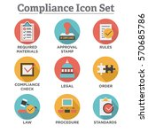 in compliance   icon set that... | Shutterstock .eps vector #570685786
