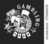 vector logos casino player  the ... | Shutterstock .eps vector #570686656