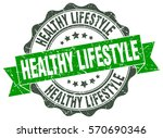 healthy lifestyle. stamp....   Shutterstock .eps vector #570690346