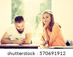 education  high school concept. ... | Shutterstock . vector #570691912