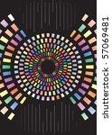 illustration of color... | Shutterstock .eps vector #57069481