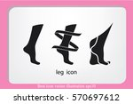 leg icon vector illustration... | Shutterstock .eps vector #570697612