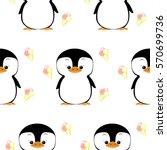 baby penguin. vector flat... | Shutterstock .eps vector #570699736