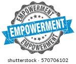 empowerment. stamp. sticker.... | Shutterstock .eps vector #570706102