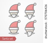 collection of santa claus heads ... | Shutterstock .eps vector #570706426