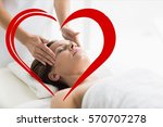 woman receiving spa with...   Shutterstock . vector #570707278