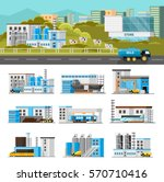 coloful industrial composition... | Shutterstock .eps vector #570710416