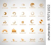air conditioner icons set... | Shutterstock .eps vector #570711022