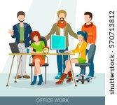 teamwork concept. business... | Shutterstock .eps vector #570713812