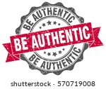 be authentic. stamp. sticker.... | Shutterstock .eps vector #570719008