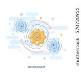development outline infographic ... | Shutterstock .eps vector #570720922
