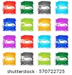 car service web icons in grunge ... | Shutterstock .eps vector #570722725