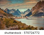 panoramic view of the fishing... | Shutterstock . vector #570726772