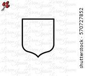 web line icon. shield. | Shutterstock .eps vector #570727852