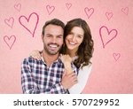 portrait of happy couple... | Shutterstock . vector #570729952