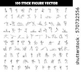 cartoon icons set of 100 sketch ... | Shutterstock .eps vector #570732556