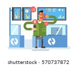 stocks broker character | Shutterstock .eps vector #570737872