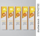 design clean number banners... | Shutterstock .eps vector #570742732