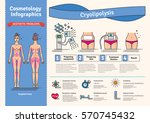 vector illustrated set with... | Shutterstock .eps vector #570745432