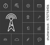 antenna. linear internet icons...