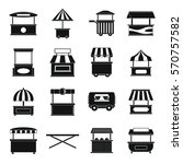 street food truck icons set.... | Shutterstock .eps vector #570757582