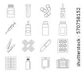 different drugs icons set.... | Shutterstock .eps vector #570758152