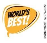 world's best retro cartoon... | Shutterstock .eps vector #570760822